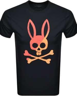 Psycho Bunny Andover Logo T Shirt Navy