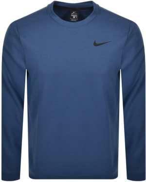 Nike Training Crew Neck Logo Sweatshirt Blue