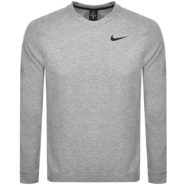 Nike Training Crew Neck Logo Sweatshirt Grey