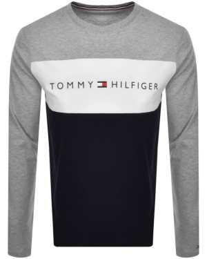 Tommy Hilfiger Flag Long Sleeve T Shirt Grey