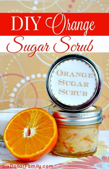 Do you LOVE bath products? If so, you will LOVE this DIY Orange Sugar Scrub! All Natural, Energizing and so much cheaper than what you can buy! It's sure to become a favorite!