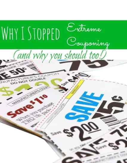 """Are you an """"extreme couponer?"""" I once was, but extreme couponing is a game that I don't want to play any longer. In this post, I show you why I stopped Extreme Couponing and tell you why I think YOU should too!"""