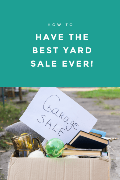 Warmer weather is here and that means spring and summer yard sales! Yard sales are a fantastic way to not only make some extra cash but to get rid of a lot of the clutter around the house! If you are new to hold yard sales, here is how to have a yard sale and my favorite yard sale success tips to help make it the best yard sale ever!