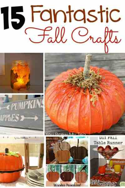 Fall is here! If you, like me, are ready to deck your home out in fall goodness? These 15 fantastic crafts for fall are exactly what you're looking for!