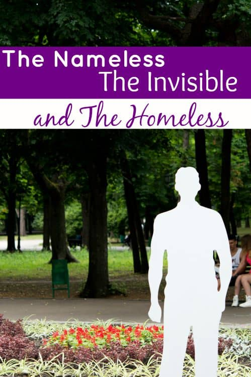 There is a part of our society that we choose to ignore every single day. They are the Nameless...the Invisible...and the Homeless. This is one story.