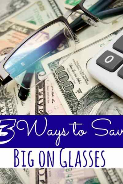 Buying eyeglasses and having your yearly exam can be so expensive, but over the years I've learned to save big on them! These 3 ways to save BIG on Glasses are sure to help you save money too!