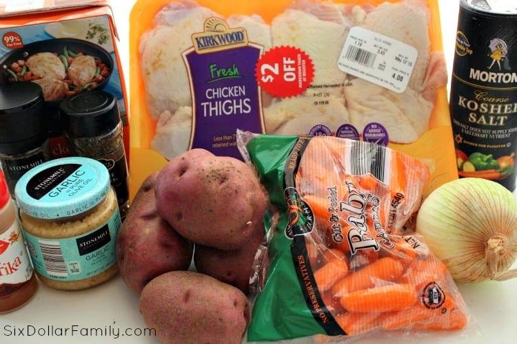crockpot-chicken-thighs-ingredients