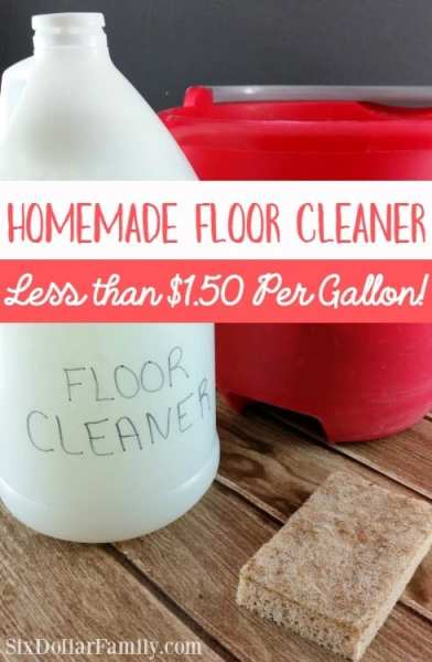 Tired of expensive floor cleaners that are full of who knows what? Give this homemade floor cleaner a try! Less than $1.50 per gallon and completely safe for kids, pets and everything in between!