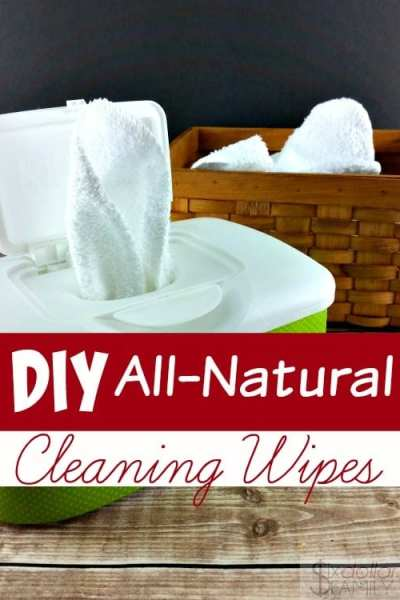 Make Your Own Homemade Cleaning Wipes - Skip the paper towels and the disposable wipes and make these homemade cleaning wipes instead! They're super simple to make and zero waste!