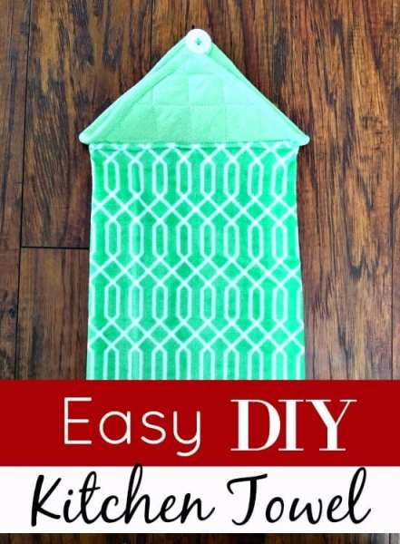 Grab your needle and thread and an old potholder! Make this Easy DIY Kitchen Towel in minutes! It's my new favorite upcycled project! These make a great gift too! You could even sell them to earn extra money!