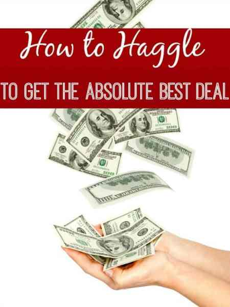 Are you a bargain hunter? If so, do you haggle? Learning how to haggle for the best deal can save you BIG each year! Learn how, why and my best tip for make sure you always score the best deal possible!