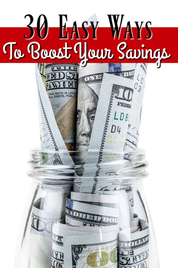If your savings account is empty, you might be feeling pretty discouraged. No worries! Boosting your savings account doesn't have to be hard! These 30 easy ways to boost your savings will have you building wealth in no time!