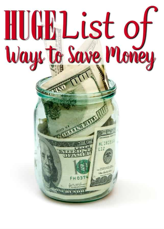 Ready to finally get your family budget under control once and for all? This HUGE list of ways to save money is just what you need! There's so many money saving ideas that you'll never have to look for more!