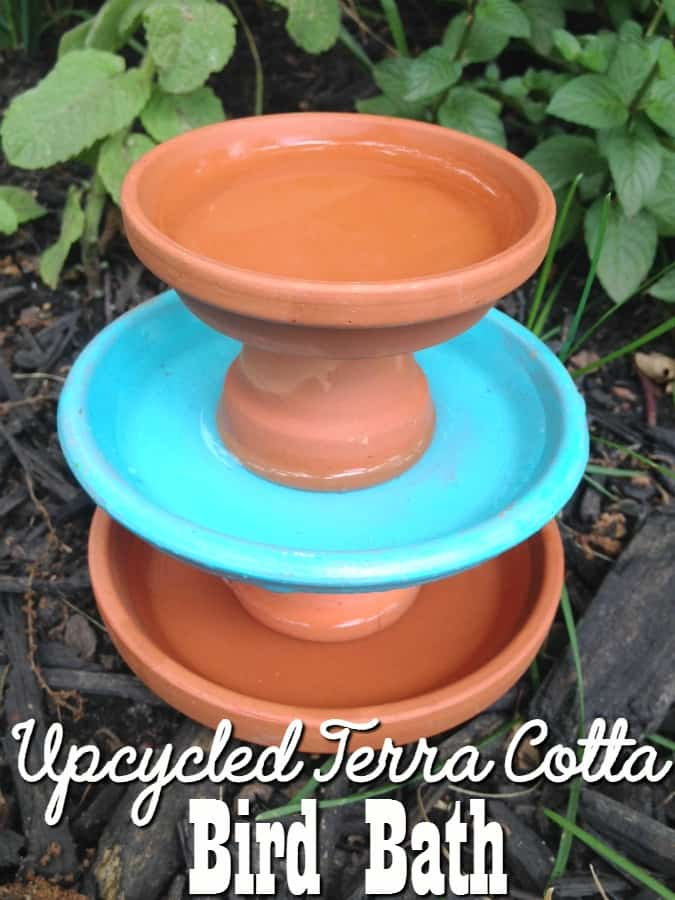 If you're looking for ways to attract birds to your yard this spring, you'll love this upcycled garden project! This DIY Upcycled Terra Cotta Bird Bath is super easy to make, budget friendly and looks great in any setting!