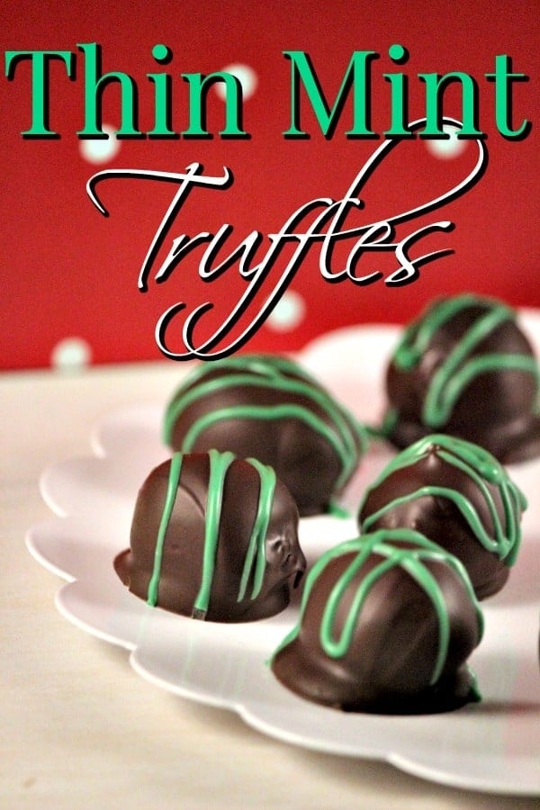 Grab your favorite box of Girl Scout Cookies and make this AMAZING Girl Scouts Cookie Recipe! This Thin Mint Truffles Recipe is perfect for St. Paddy's Day Parties or just a simple snack!