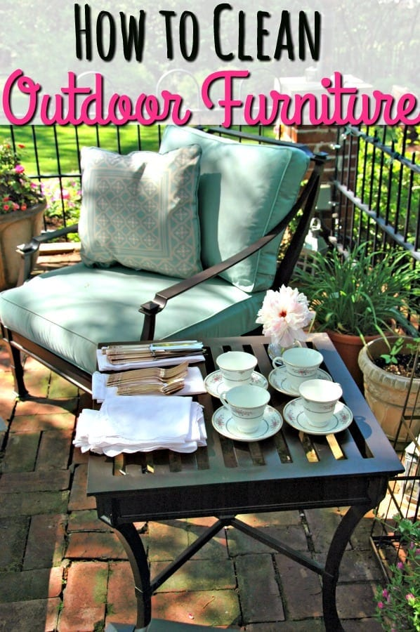 How to Clean Patio Furniture - Dingy patio furniture? These tips will teach you how to clean outdoor furniture on a budget! Your back yard has never looked so good!
