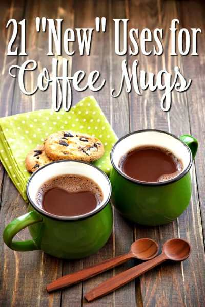 """Ways to Upcycle Coffee Mugs - Have a cabinet full of mugs you won't use? These 21 """"New"""" Ways to Use Coffee Mugs can help! Find a craft, get organized and more!"""