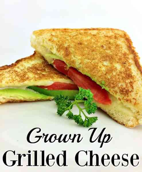 Delicious Grilled Cheese Recipe - No more yellow slices and bread! This grown up grilled cheese recipe has avocado, tomato and more to bring a more mature and delicious grilled cheese recipe to the table!