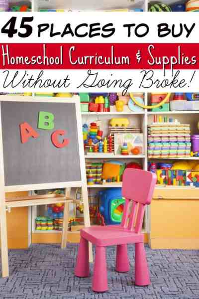 Where to Buy Homeschool Curriculum & Supplies - Tired of trying to find the best homeschool curriculum for your kids? These 45 places to buy homeschool curriculum can help! We even included places to buy school supplies without going broke too!