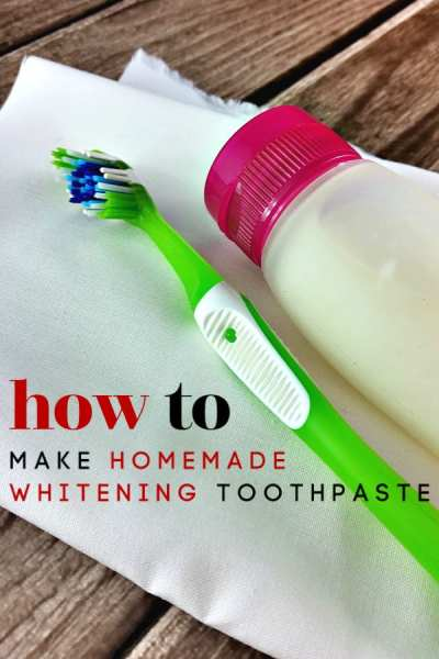 Put the tube down and pick up this homemade toothpaste instead! This homemade whitening toothpaste is all you need to keep your pearly whites strong, healthy and of course; white!
