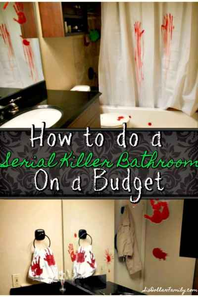 Creepy Halloween Decoration - Want to scare the pants off someone this Halloween? Give this DIY Serial Killer Bathroom Decor a shot!