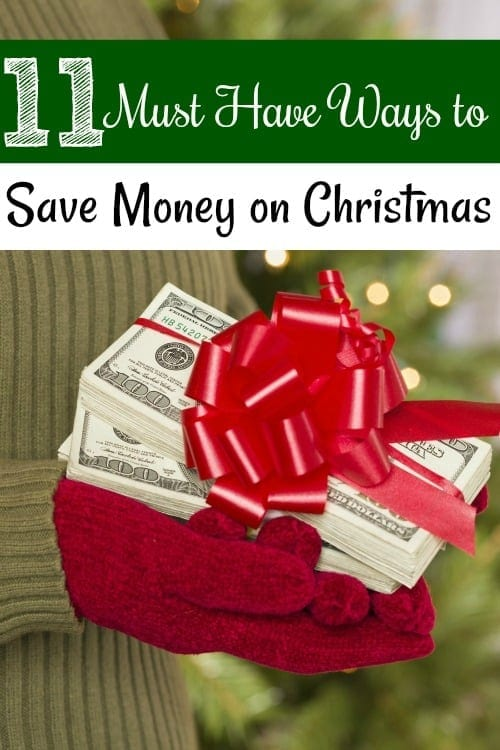 Christmas can be budget breaking expensive, but these 11 must have ways to save money on Christmas can help! You'll save money on Christmas gifts, decorations and more!
