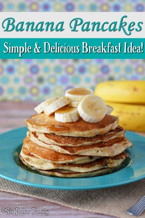 Easy Banana Pancake Recipe - Looking for a cheap and delicious breakfast recipe? This easy banana pancake recipe is perfect! Not too sweet and whips up in minutes!