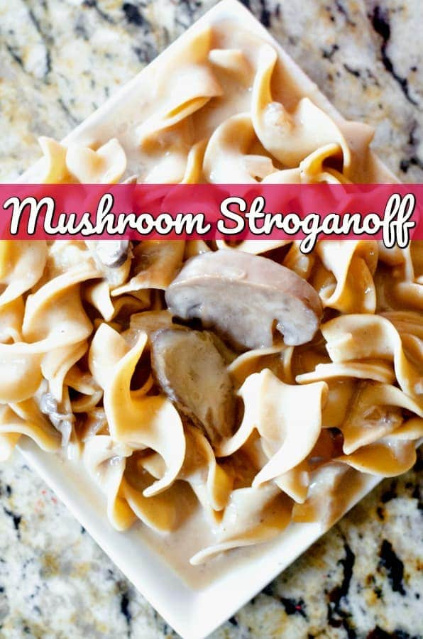 Mushroom Stroganoff Recipe - Looking for a delicious Instant Pot Recipe? This Instant Pot mushroom stroganoff recipe is just what your menu plan needs in a super easy and delicious pressure cooker recipe!