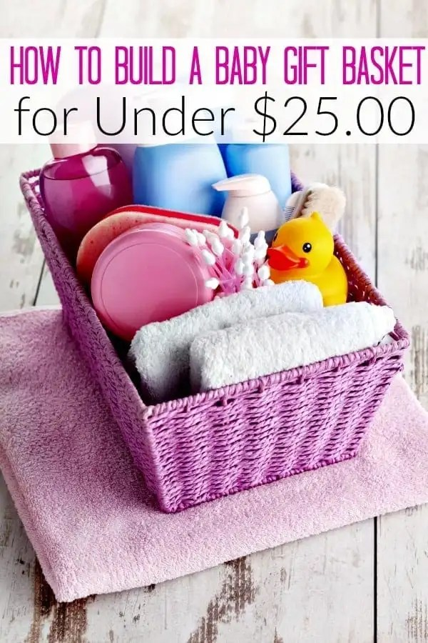 Budget Friendly Baby Shower Gift Basket - Have a baby shower to attend? Don't break the piggy bank for a baby shower gift ideas! Let me show you how to make a baby welcome basket for under $25.00!