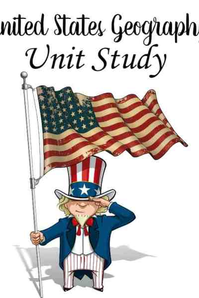 Homeschool United States Geography Unit Study - Looking for a unit study to teach United States geography? This homeschool unit study is perfect! Your kids will be popping off geography facts in no time!