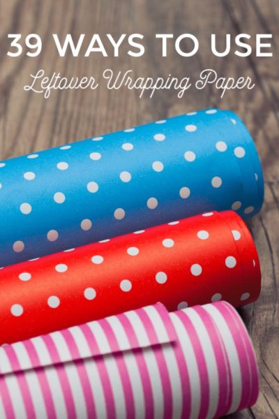 Ways to Use leftover wrapping paper - Don't toss that leftover gift wrap! These 39 ways to use leftover wrapping paper are perfect for a quick upcycled project!