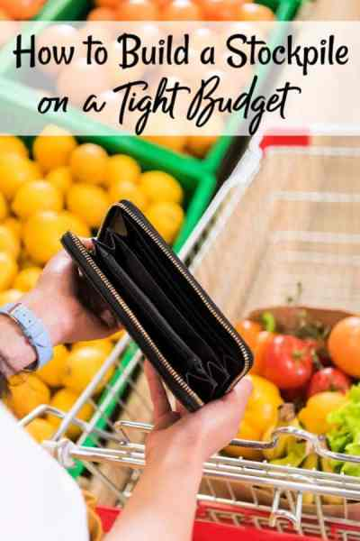 How to Build a Stockpile Cheap - We all go through times where money is super tight. Let me show you how to build a stockpile on a budget! These stockpiling tips will show you how to build a stockpile without coupons that can feed your family when times are tough!