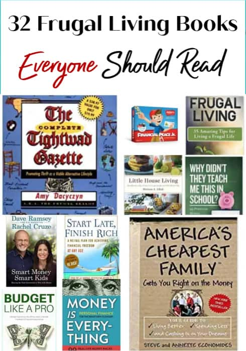 Books About Frugal Living Everyone Should Read - Ready to curl up with a good book? These 32 Frugal Living Books are a perfect idea for a rainy day, lazy evening or anytime you want to catch a good read! Get your finances in order and learn new budgeting skills to help save money in all new ways!