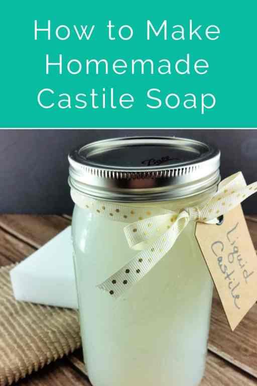 Castile soap is a staple in any toxin free home and in DIY beauty and DIY cleaning recipes. It can be so expensive though! This simple two step method will show you how to make homemade liquid castile soap from a br for much cheaper!