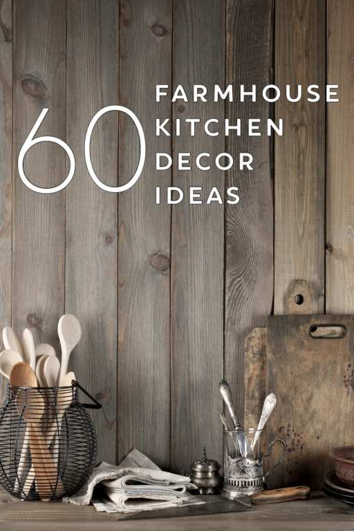 A country kitchen is a warm and inviting kitchen. If you love the farmhouse decorating style, these 60 farmhouse kitchen decor ideas are just what you need to create the perfect country kitchen!