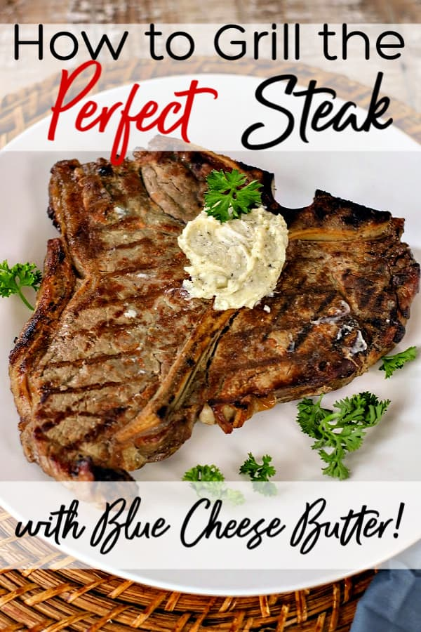 New to grilling? Let me show you how to grill steak! Plus my favorite blue cheese butter recipe. No steak is complete without it. Click to get the recipe.