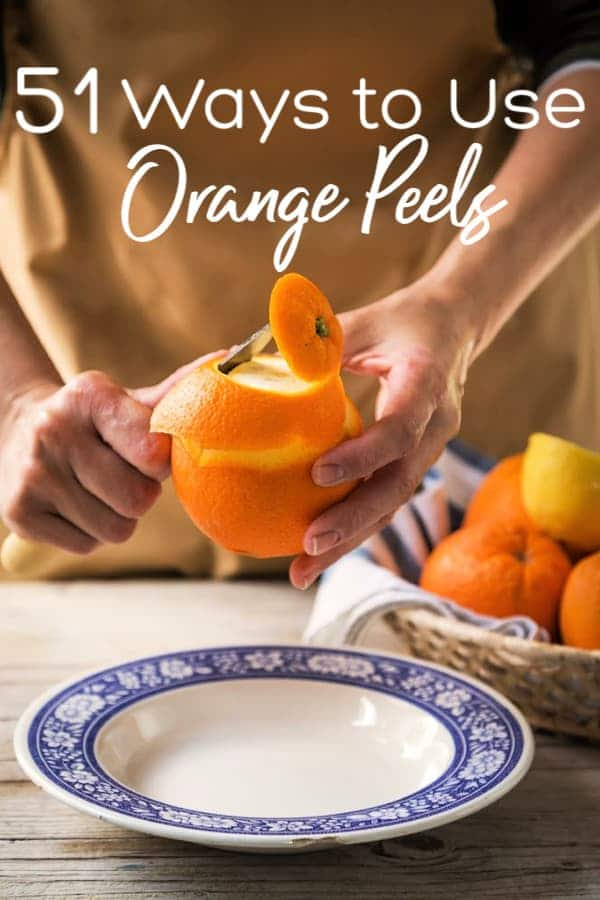 Have orange peels you don't want to toss? Check out these 51 ways to use orange peels! Click to see all 51 ways to use orange peels in a zero waste home.