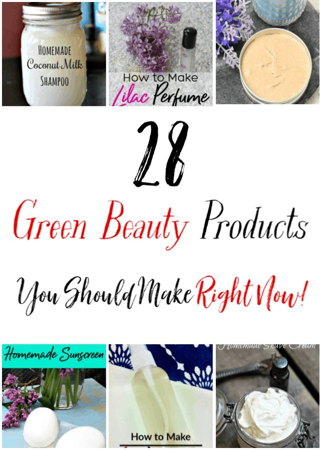 Skip the high dollar green beauty products and make these 28 things to make to save money! These DIY Beauty products are amazing! You're going to love them!