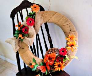 Fall is the perfect time for DIY Burlap home decor projects. This quick tutorial will teach you how to make a burlap wreath with sunflowers that is perfect for decorating any room for fall!