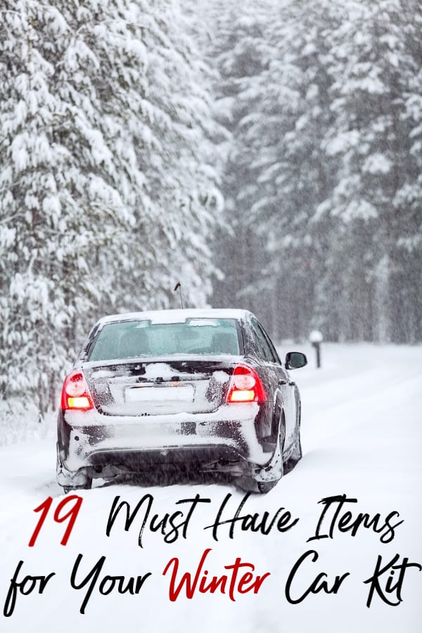 Icy weather is coming!. These 19 items are must haves for anyone with a winter car kit (and everyone should have one!). They'll keep you safe and warm when it's cold and snowy outside!