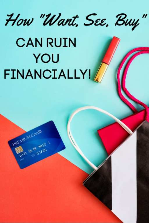 """If you're having trouble getting or staying on track financially, check that you're not in a """"want, see, buy"""" impulse buying cycle. The financial dangers of not knowing how to stop impulse buying are far bigger than you think, but these tips will help!"""