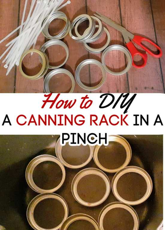 When you're canning but can't find your canning rack, it can be super frustrating. This DIY canning rack is the perfect quick fix! Make one up in less than 5 minutes and get your canners ready!