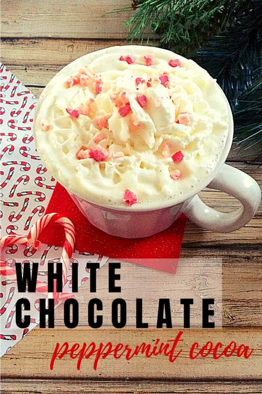 Soothe your soul and warm your body on a cold winter's night with this white peppermint hot chocolate recipe! Incredibly simple to make, it's perfect for any cold night or as a Christmas Eve treat!