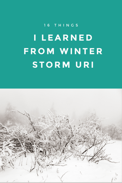 Winter storms can be incredibly damaging and Winter Storm Uri proves that. They can also teach us important lessons. For me, the things I learned from the Texas blackout and Winter Storm Uri will help keep my family safe the next time it happens and they can help you too.