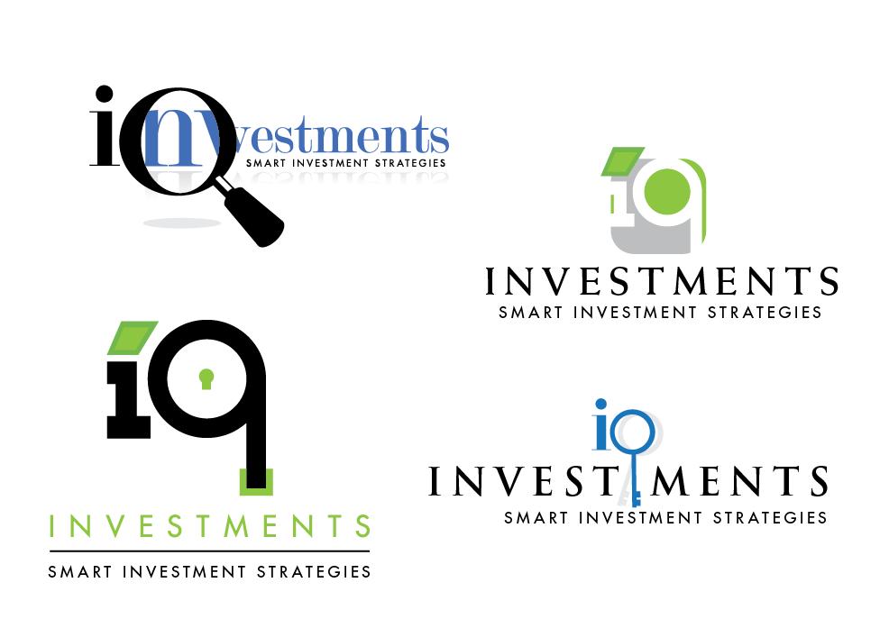 iq investments logo s i x e y e d e s i g n