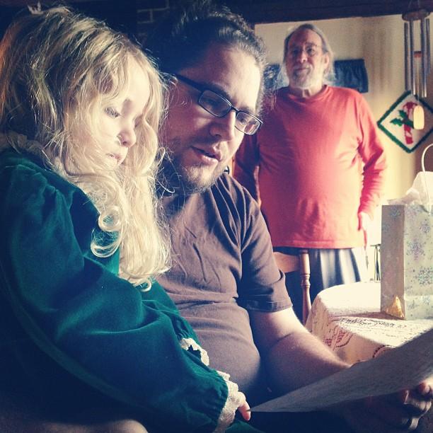 Reading Santa's letter