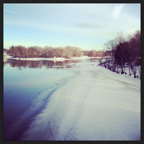 A cold walk. #stickygramaday12