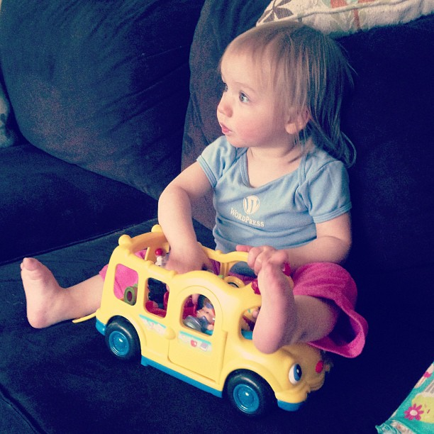 Love my bus from Nana and Grampa