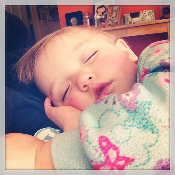 Still asleep!