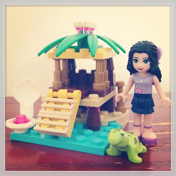 Ellie's building LEGOs